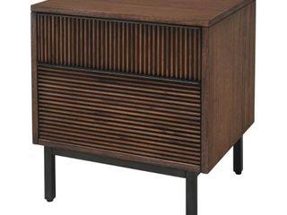 Hopper Studio Avant Brown 2 Drawer Nightstand  Retail 272 49 DAMAGED