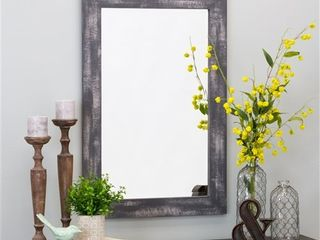 Morris Wall Mirror   Gray 36 x 24   36 h x 24 w x 1 d  Retail 87 49