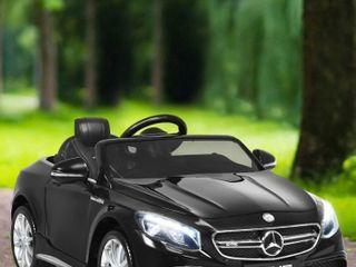 Blcak Mercedes Benz 12v Electric Kids Ride On Car licensed Mp3 Rc Remote Control