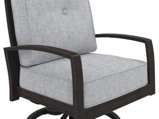 Castle Island Outdoor Grey Swivel Chair