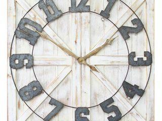 Stratton Home Decor Rustic Farmhouse Wall Clock  Retail 134 49