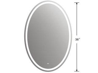 CHlOE lighting SPECUlO Back lit lED Mirror 6000K Daylight White 24  Wide