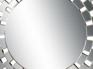 Maya Glam Round Accent Wall Mirror   Black