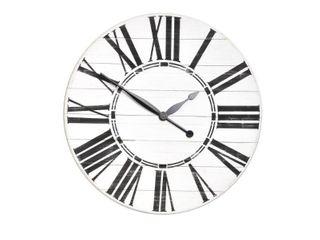 Oversized White Farmhouse Wall Clock  Retail 186 49