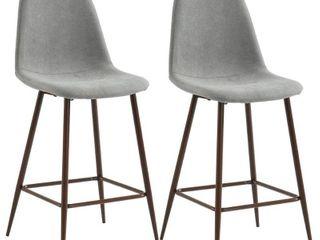 Worldwide Homefurnishings Fabric Counter Stool Set Of 2