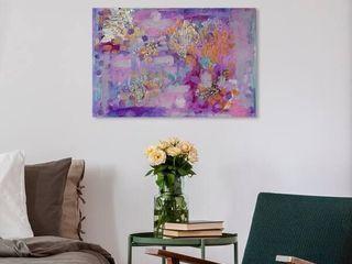 Oliver Gal  Tiffany Pratt   The Mystic  Abstract Wall Art Canvas Print   Purple  Gold   24 x 16