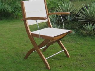 Royal Tahiti Ivory Textline Folding Armchair