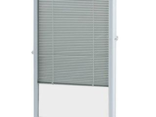 ODL White Cordless Add On Enclosed Aluminum Blinds with 1/2 in. Slats, for 22 in. Wide x 36 in. Length Door Windows ADDON2236E