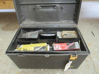 Tool Box w/ Misc. Powerloads, Bits, Fasteners,