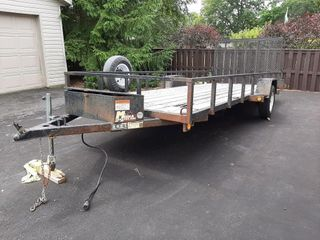 Miska Factory Utility Trailer 17ft L X 6 Ft W