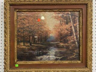 Framed Creek Scene: Signed Robert W