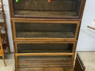 4 Stack Barrister Bookcase: Needs Repair On Bottom