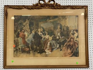 Gold Framed Victorian Print: 38