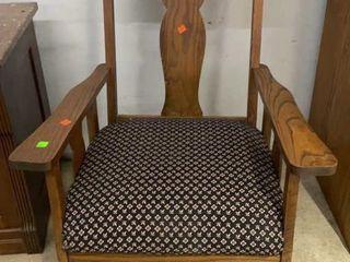 Oak Rocker W Upholstered Seat