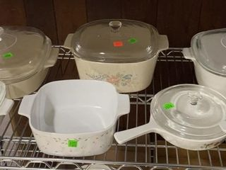 7 Pieces Of Corning Ware Oven Ware