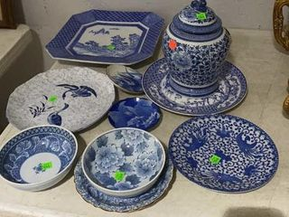 10 Pieces Of Decor Blue And White China,