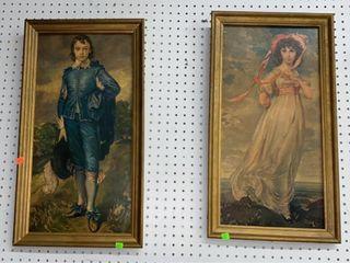 2 Framed Prints: Pinky & Blue Boy