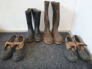 2 Pair Boots (7) and 2 Pair of Shoes (8)