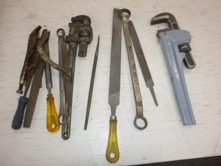 2 Pipewrenches, Files etc.