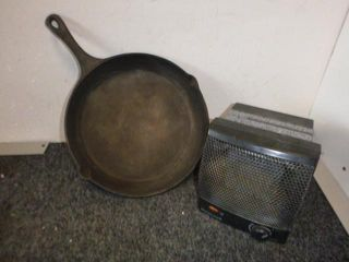 Cast Iron Frying Pan D. 11'' and Space Heater