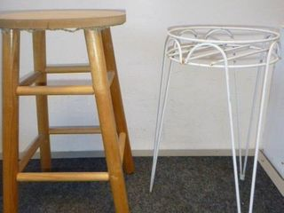 1 Stool and 1 Plantstand
