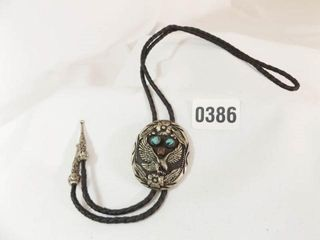 S S I Bolo Tie  Genuine Turquoise  Coral