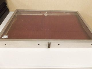 Glass Front Display Case  20 x 30 x 3