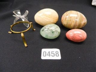Polished Stone Eggs   4  Stands 2