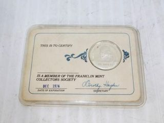 Member of the Franklin Mint Collectors Society