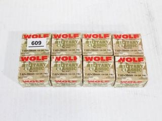 8 Boxes WOlF 7 62 x 39mm FMJ