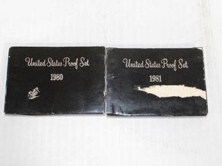 2   United States Proof Sets 1980   1981
