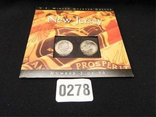 State Quarters New Jersey  c 1999