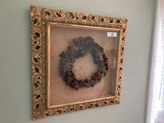 Framed Wreath on Wall