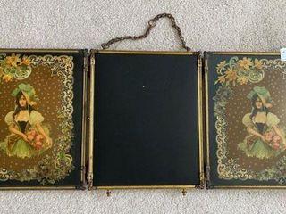 Antique Folding Triple Mirror