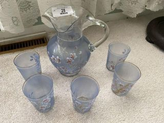Water Set With Pitcher & Five Glasses