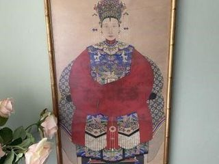 Framed Oriental Wall Hanging