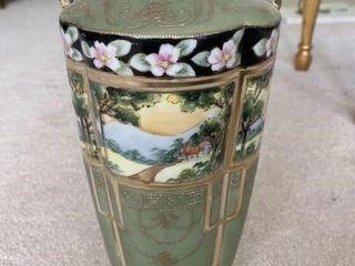 Hand-Painted Oriental Vase