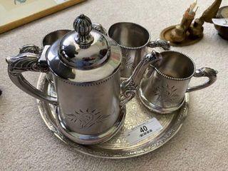 Five-Piece Silver Plated Tea Set