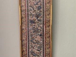 Framed Oriental Silk Tapestry