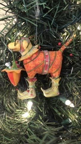 Dog Christmas tree ornament