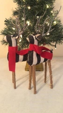 (2) Reindeer Christmas Decor