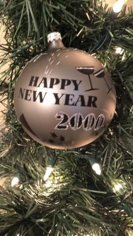 (2) New Years 2000 Ball Ornament