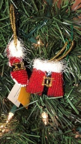 (2) Michael Simon Fabric Ornaments
