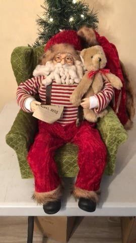 Sitting Santa Christmas Decor