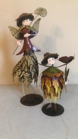 Fall time fairy figurines