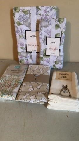 Easter Table Cloth and Cloth Napkins