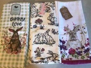(3) Sets of Easter Kitchen Towels