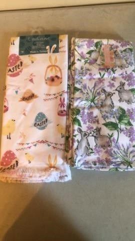 (2) Sets of Easter kitchen Towels