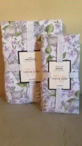 Tabitha Webb Easter Table Cloth and Napkins
