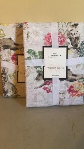 (2) Matching Tabitha Webb Easter Table Cloths